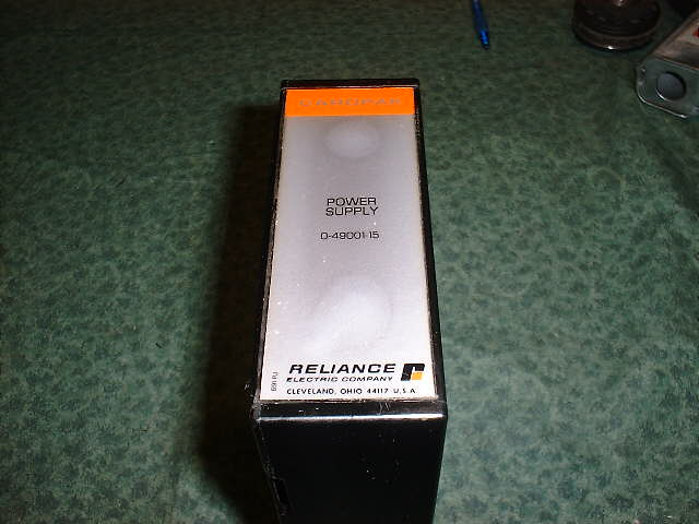 Reliance 0-49001-13 CARDPAK POWER SUPPLY 04900113